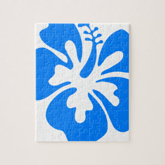 Blue Hibiscus Flower Jigsaw Puzzle