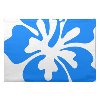 Blue Hibiscus Flower Placemat