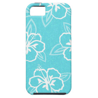 Blue Hibiscus Flower Print Case For The iPhone 5