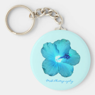 Blue Hibiscus Keychain