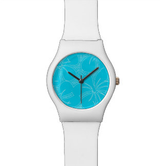 Blue Hibiscus lines Watch