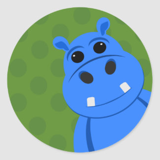Blue Hippo Stickers
