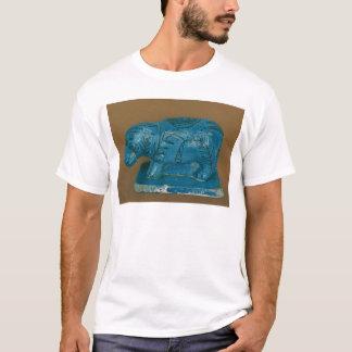 Blue hippopotamus with black decoration T-Shirt