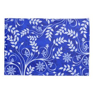Blue Hmong Decorative Floral Pattern Pillowcase