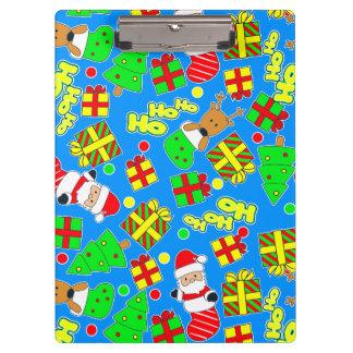 Blue - Ho Ho Santa Clipboard