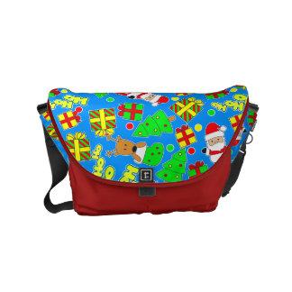 Blue - Ho Ho Santa Commuter Bags