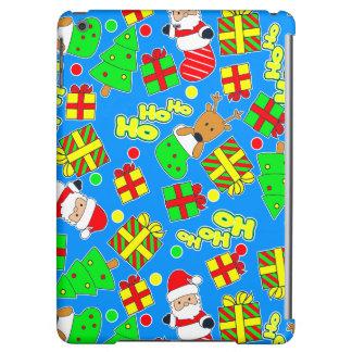 Blue - Ho Ho Santa Cover For iPad Air