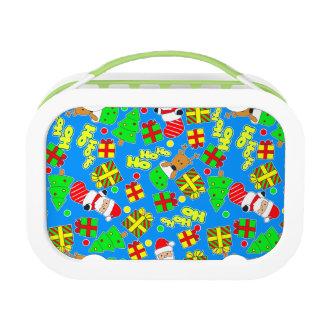 Blue - Ho Ho Santa Lunch Box