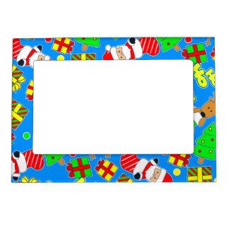 Blue - Ho Ho Santa Magnetic Frame