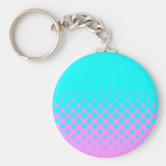 Blue Holes Basic Round Button Key Ring