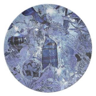 Blue Holiday Trio3 Plate