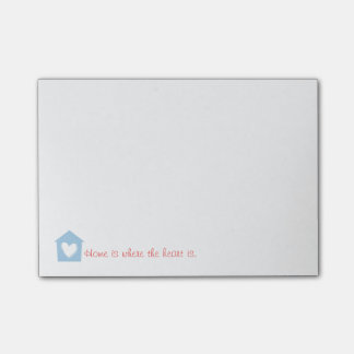 Blue Home Is Where the Heart Is Notes Post-it® Notes