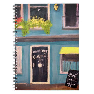 Blue Honey Bee cafe Notebooks