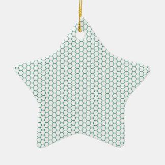 Blue Honey Comb Pattern Christmas Ornaments
