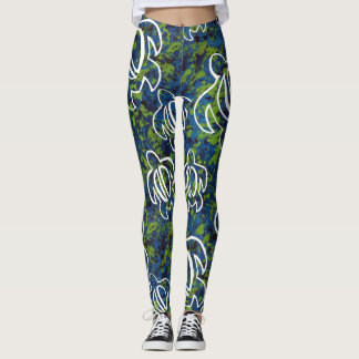Blue Honu Leggings