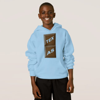 BLUE HOOD SWEATER HANES    TEXAS CHOCOLATE