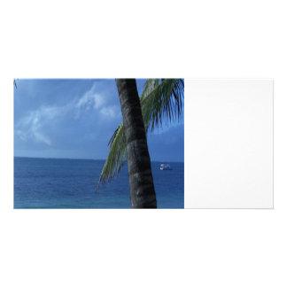 Blue Horizon Beach Photo Card
