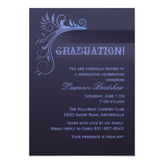Blue Horizon Graduation Invitation