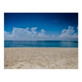 Blue Horizon Sandy Seashore Postcard