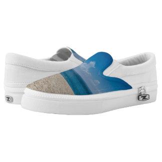 Blue Horizon Sandy Seashore Slip-On Shoes