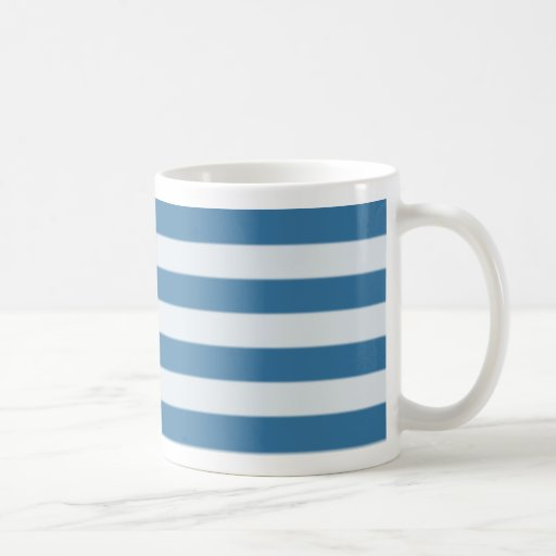 Blue horizontal stripe mug