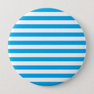 Blue Horizontal Stripes 10 Cm Round Badge