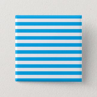 Blue Horizontal Stripes 15 Cm Square Badge