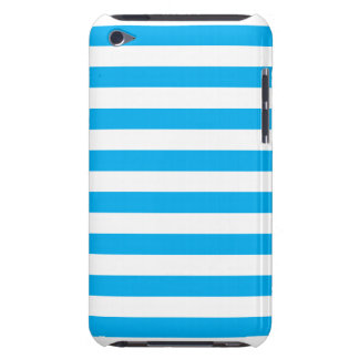 Blue Horizontal Stripes Barely There iPod Cases
