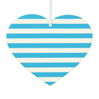 Blue Horizontal Stripes Car Air Freshener