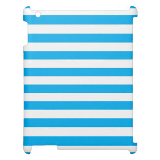 Blue Horizontal Stripes Case For The iPad 2 3 4