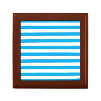 Blue Horizontal Stripes Gift Box