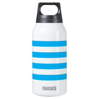 Blue Horizontal Stripes Insulated Water Bottle