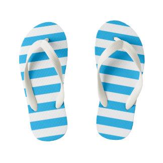 Blue Horizontal Stripes Kid's Thongs