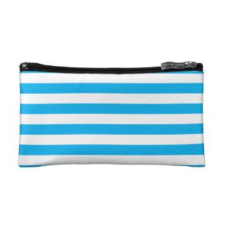 Blue Horizontal Stripes Makeup Bag