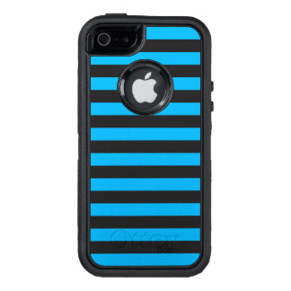 Blue Horizontal Stripes OtterBox Defender iPhone Case