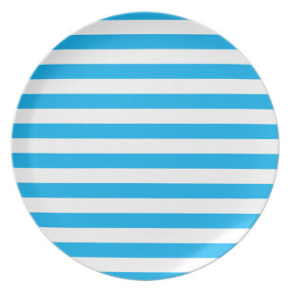 Blue Horizontal Stripes Plate