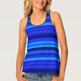 Blue horizontal stripes singlet