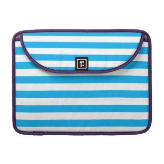 Blue Horizontal Stripes Sleeve For MacBook Pro
