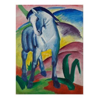 Blue Horse by Franz Marc Vintage Expressionism Art Poster