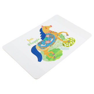 Blue horse Collection floor mat by Gemma Orte