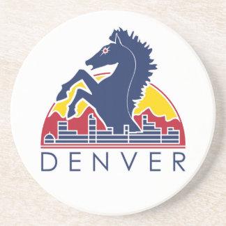 Blue Horse Denver Logo Coaster