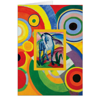 Blue Horse I by Franz Marc Card