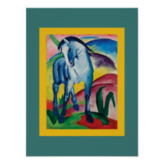 Blue Horse I by Franz Marc Poster