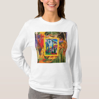 Blue Horse I & Deer in the Forest (Franz Marc) T-Shirt