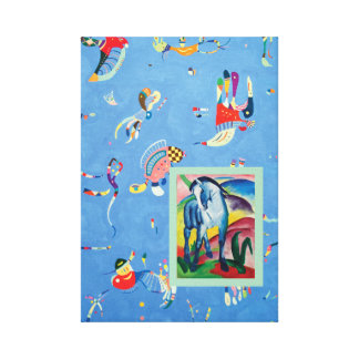 Blue Horse with Sky Blue Canvas Print