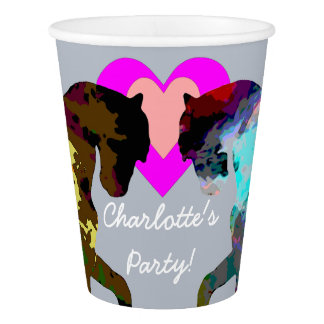 Blue Horses Personalised Paper Cups