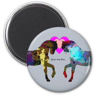 Blue Horses Personalized Magnet