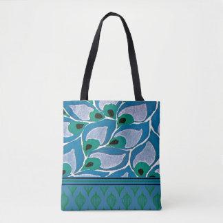 Blue Hostas Art Nouveau Tote Bag