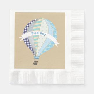 Blue Hot Air Balloon Boy Baby Shower Napkins Paper Napkin