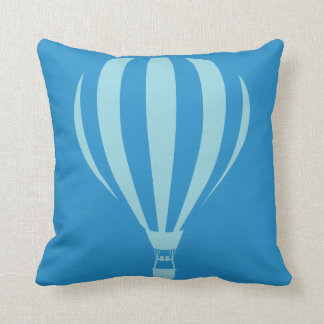 Blue Hot Air Balloon Throw Cushion
